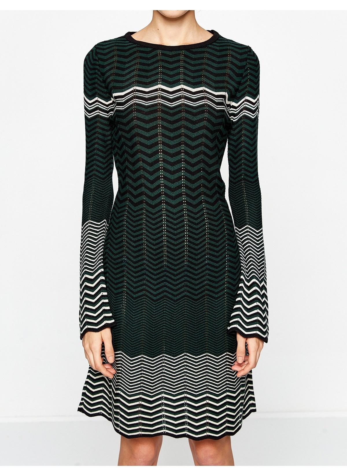 37bb237bd7e8c Koton Kadın Desenli Triko Elbise Green Desıgn | Morhipo | 19768053